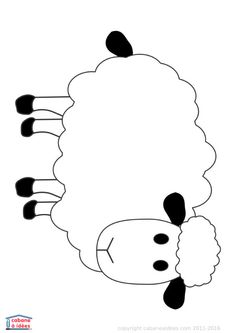 PDF à Télécharger | La Cabane à Idées Farm Animals Preschool, Farm Animal Crafts, Sheep Crafts, Farm Crafts, Art Drawings For Kids, Drawing For Kids, Toddler Crafts, Crafts For Kids, Christian Preschool