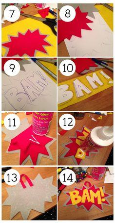 Would make a good tree topper for Superhero Christmas tree! BAM! Felt Ornament Steps 2