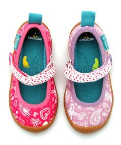 Take a look at this Pink & Hot Pink Boogie Dance Mary Janes - Kids by CHOOZE on #zulily today!