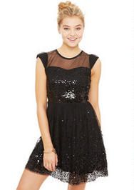 Cap%20Sleeve%20Sequin%20Mesh%20Dress