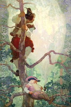 The Rites of Spring illustrated by Charles Robinson from A Childs Garden of Verses by Robert Louis Stevenson