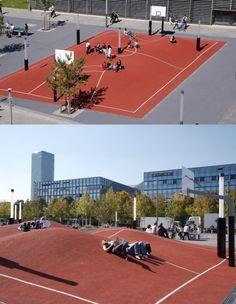 3D² - Basketballfeld in Munich, Germany by Inges Idee photos: Markus Buck