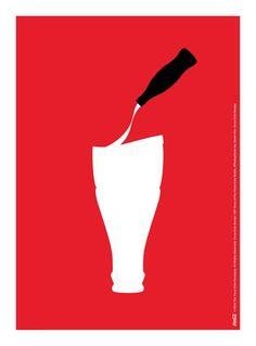Kiss The Past Hello. Coca-Cola Design: 100 Years of the Coca-Cola Bottle. by: Sarah Kim, Coca-Cola Design Nuka Cola Poster, Pepsi, Coke, World Of Coca Cola, Orange Aesthetic, Image Icon, Ads Creative, Website Design Inspiration, Ad Design