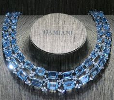 @mariigem. Amazing #aquamarine #necklace by #damiani @damianiofficial