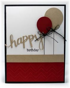 The card - used SU's new balloon punch for this one. I like the two different sizes. The 'happy...