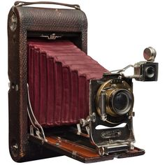 Kodak Folding Camera ❤ liked on Polyvore featuring camera, fillers, vintage, electronics and accessories