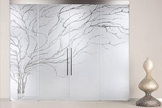 This is Beautiful Printed Interior Door Design. A glass door can make miracles to a simple home. Design of Interior Doors Design Frosted Glass Design, Frosted Glass Door, Sliding Glass Door, Sliding Doors, Glass Wardrobe, Wardrobe Door Designs, Bedroom Closet Doors, Bathroom Doors, Bathroom Closet