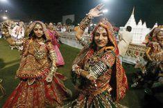 Navratri festival of dancing - Gujarat