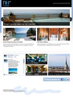 NH HOTELES // Dodicitrenta realizza uno spazio in cui un grande gruppo come NH Hoteles possa comunicare in modo chiaro e diretto le proprie offerte e promozioni.