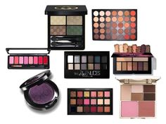 """""""BLUSH"""" by cole222 on Polyvore featuring Stila, Morphe, Huda Beauty, Maybelline and Gucci"""