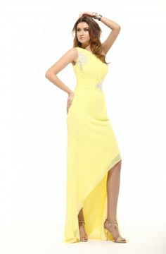 Gold High Low Dresses $159.29