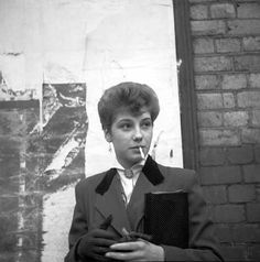 """Ken Russel's series of documentary """"Teddy Girl"""" photographs were published in Picture Post magazine in the summer of . Teddy Girl, Teddy Boys, Youth Culture, Pop Culture, Ken Russell, Youth Subcultures, Hippie Man, 50s Rockabilly, New Wave"""