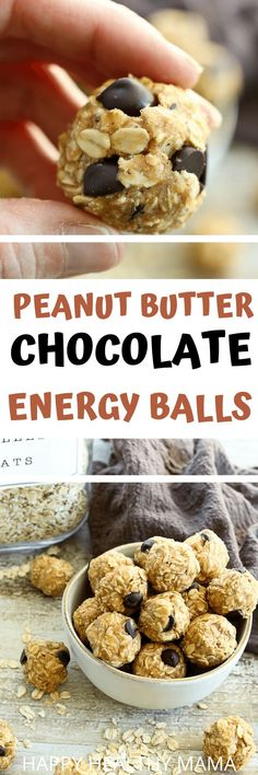 These Chocolate Peanut Butter Energy bAlls are perfect for snacking on the go! Also outstanding for school lunch boxes and kids just love these! They are made with peanut butter and oatmeal and naturally sweetened with no refined sugar. SO good!!