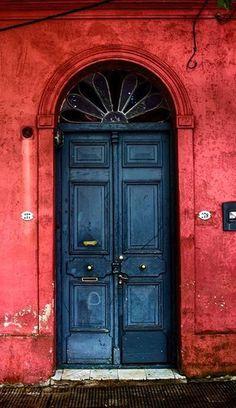 Colonia del Sacramento, Uruguay Cool Doors, Unique Doors, Entrance Doors, Doorway, Doors Galore, When One Door Closes, Knobs And Knockers, Vintage Doors, Closed Doors