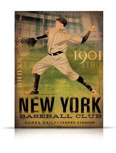 New York Yankees Baseball Club vintage style by geministudio