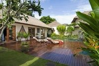 Jimbaran Puri Bali: Huge One-Bedroom Deluxe Pool Villas have private gardens with gazebos. Jimbaran Bali, Bali Resort, Green River, Backyard Paradise, Outdoor Living, Outdoor Decor, Back Patio, Private Garden, Inspired Homes