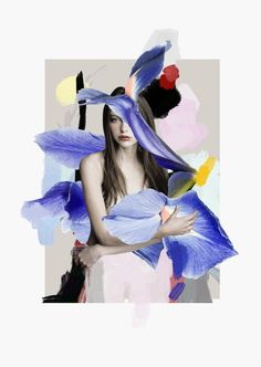I'm loving these floral collages that mix photographs of models with flowers by Ernesto Artillo. The Spanish mixed media artist knows just where to place the flowers to make for an interesting portrait. Ernesto Artillo's website via [Trendland] Collage Foto, Mode Collage, Art Du Collage, Mixed Media Collage, Digital Collage, Photo Collages, Paper Collages, Flower Collage, Collage Ideas