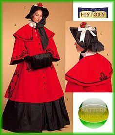 Butterick 5266 Ladies Winter Victorian Costume Patterns Dickens