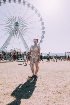 The Best Anything-Goes Street Style From Coachella #refinery29  http://www.refinery29.com/coachella-street-style-2016#slide-4  Gotta love an outfit with built-in ventilation....