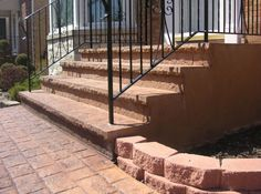 Get your last minute outdoor projects in before winter!  Concrete stoops & stairs are needed wherever there may be a change in elevation.  Steps can be installed not only for front entrances to a home or business.