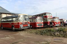 Barton - Chilwell depot 25/9/2016 - The sun shines down on five vehicles lined up for review