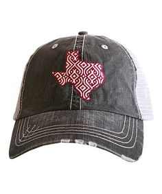 Katydid Collection Red  amp  Gray Texas Trucker Hat by b066722a654