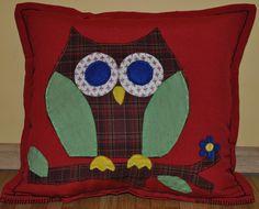 funny owl handmade pillow case