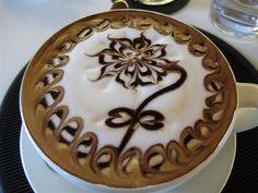 Arte latte figuras en cafe :3 - Taringa!