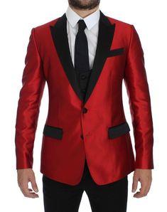fbdc9a0b7c59 Dolce Gabbana Two-piece Tuxedo Blazer Vest IT54 US44/UK44/ Jacket New #