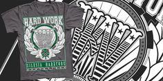 """Gzy Ex Silesia - Hard Work- Silesia Hard Core"" t-shirt design by Gzy Ex Silesia"
