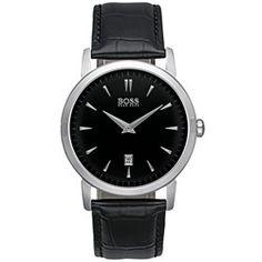 Relógio Hugo Boss Masculino Couro Preto - 1512637