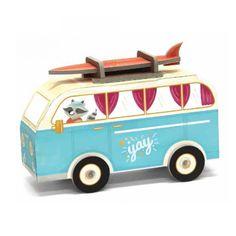 KROOOM Χάρτινη Κατασκευή - Hippie Van