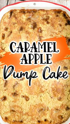 Caramel Apple Dump Cake, Apple Dump Cakes, Dump Cake Recipes, Caramel Apples, Dessert Recipes, Dinner Recipes, Spice Cake Mix Recipes, Apple Cake, Dessert Ideas