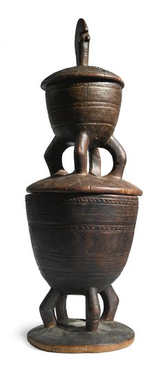 MOSSI TWO-TIERED CONTAINER, BURKINA FASO