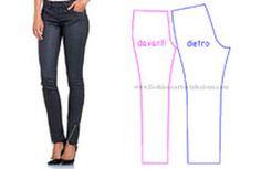 pantalone su misura aderente, come fare pantalone modello jeans, tutorial pantalone su misura