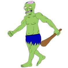 zombie warrior in run