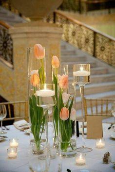 Dekoideen Frühling tischdeko frühling blumen tulpen