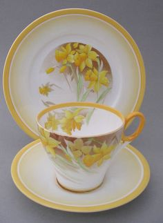 Shelley Cup Saucer and Plate Daffodils Pattern 12571 | eBay