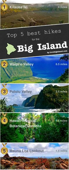 Top 5 favorite Short Hikes on the Big Island (Hawaii)