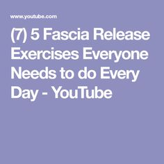 In this video Dai Manuel takes us through some of the most beneficial fascia release exercises we can all do using massage balls. There are some really effec. Muscle Fascia, Trigger Points, Pain Relief, Trains, Anatomy, Exercises, Eat, Youtube, Exercise Workouts