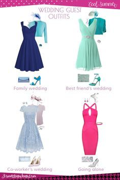 Wedding guest outfit ideas for Cool Summer women by 30somethingurbangirl.com // Are you invited to a family, your best friend's or your co-worker's wedding, maybe going solo to a nuptials? Find pretty outfit ideas and look fabulous!