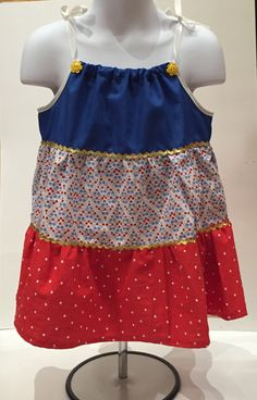 A personal favorite from my Etsy shop https://www.etsy.com/listing/424262133/toddler-4th-of-july-summer-sundress