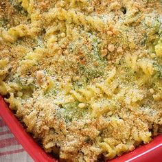 Skinny Baked Broccoli Macaroni and Cheese More
