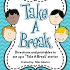 """An alternative to clip charts, this file contains directions and printables to create a """"Take A Break"""" station which encourages children to manage ..."""