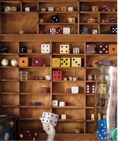 Show off small objects, like dice, matchboxes, or dollhouse miniatures, in a divided case.