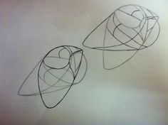 Richard Deacon based drawings - Pencil and Ink
