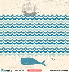 Whale Bone Reef Paper - Treasure Map - October Afternoon