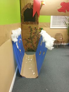 Another visual from our 2013 VBS Mighty God, Moses and Me, the parted Red Sea.  The kids loved it.