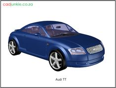 3D Vehicle: Audi TT Autocad, 3d Cad Models, Cad Blocks, Audi Tt, Mk1, Transportation, Vehicles, Car, Vehicle