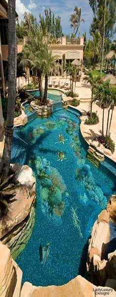 Luxury Beach Home- Luxurious Outdoor Pool | LadyLuxuryDesigns